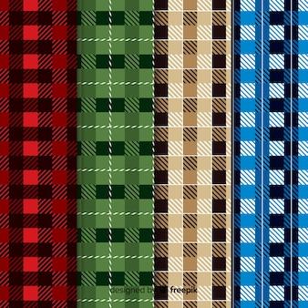 Collection de motifs colorés de buffles