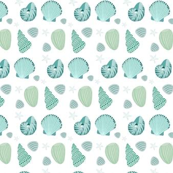 Collection de motifs de coquillage sans soudure