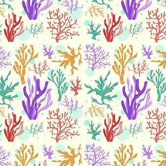 Collection de motifs corail