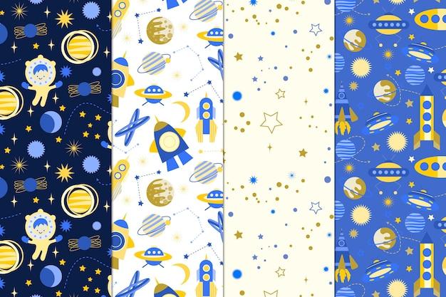 Collection de motifs cosmiques