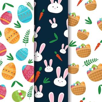 Collection de motifs créatifs de pâques
