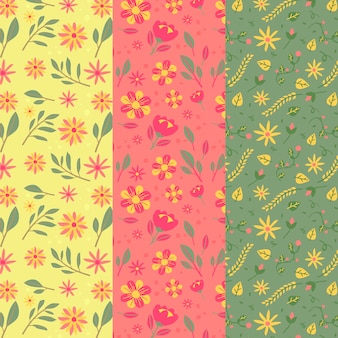 Collection de motifs créatifs de printemps