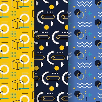 Collection de motifs design memphis