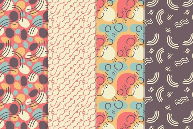 Collection de motifs dessinés à la main abstraite