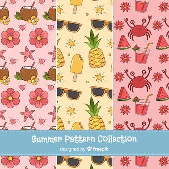 Collection de motifs d'été