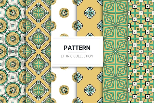 Collection de motifs ethniques ornementaux de luxe