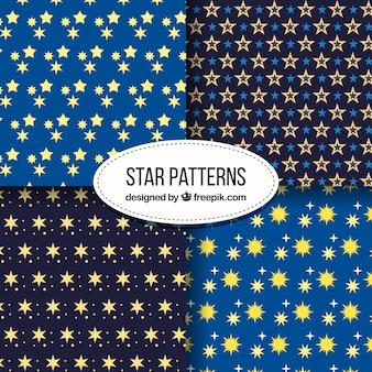 Collection de motifs d'étoile bleue