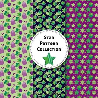 Collection de motifs d'étoiles dessinés à la main