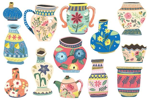 Collection de motifs floraux antiques