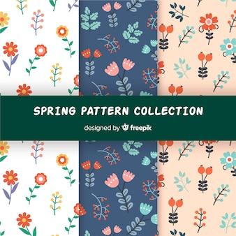 Collection de motifs floraux de printemps