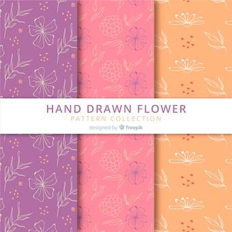 Collection de motifs floraux