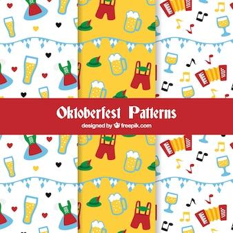 Collection de motifs fun oktoberfest