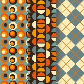 Collection de motifs géométriques colorés