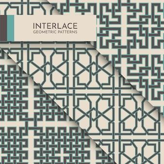 Collection de motifs géométriques entrelacés sans soudure