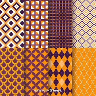 Collection de motifs géométriques halloween