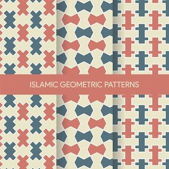Collection de motifs géométriques islamiques