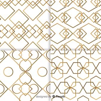 Collection de motifs géométriques de luxe