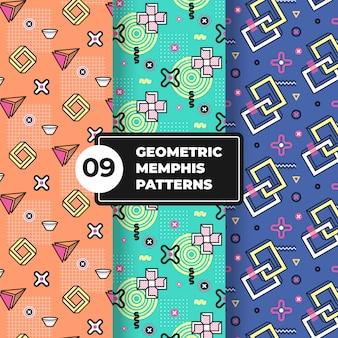 Collection de motifs géométriques memphis
