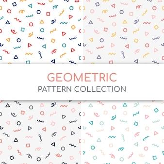Collection de motifs géométriques mignons.
