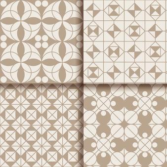 Collection de motifs géométriques minimes
