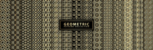 Collection de motifs géométriques sans couture de luxe
