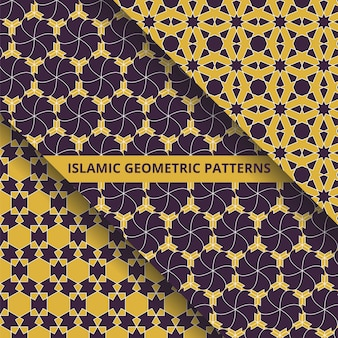 Collection de motifs géométriques sans soudure de style islamique