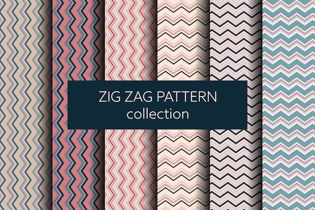 Collection de motifs géométriques en zigzag