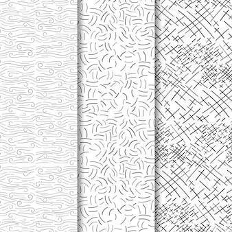 Collection de motifs de gravure dessinés à la main