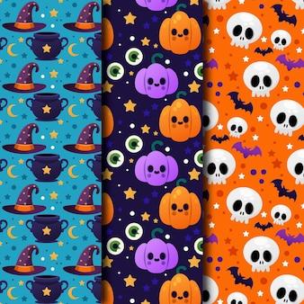 Collection de motifs d'halloween dégradés