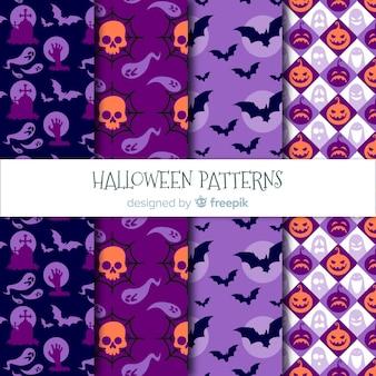 Collection de motifs d'halloween moderne