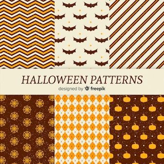 Collection de motifs halloween vintage