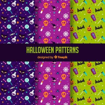 Collection de motifs d'halloween