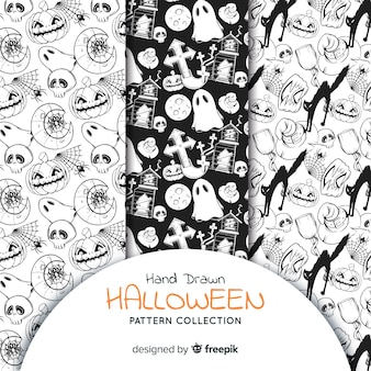 Collection de motifs d'halloween