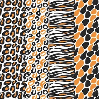 Collection de motifs imprimés animaux modernes
