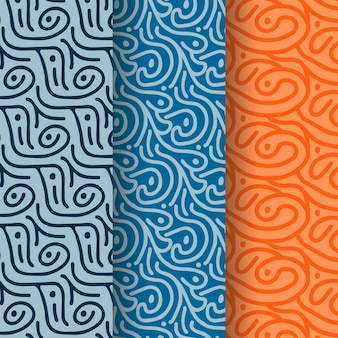 Collection de motifs de lignes arrondies