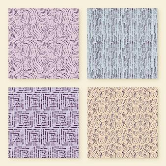 Collection de motifs de lignes arrondies