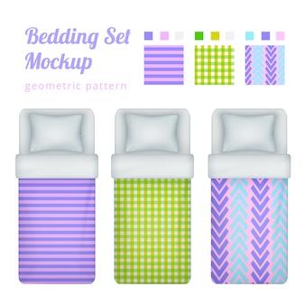 Collection de motifs de linge de lit