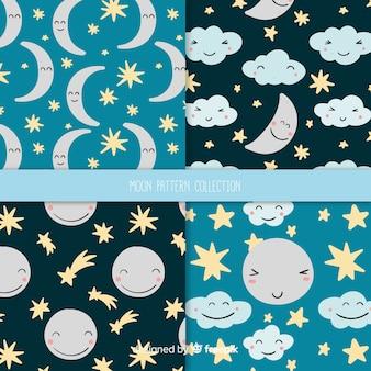 Collection de motifs de lune