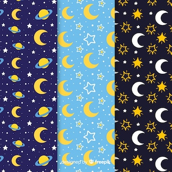 Collection de motifs de lune