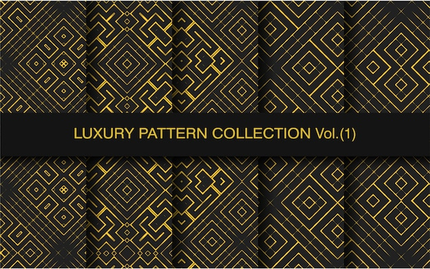 Collection de motifs de luxe géométriques