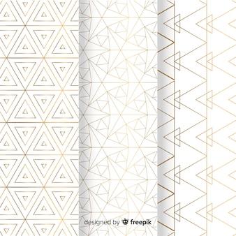 Collection de motifs de luxe lumineux géométrique