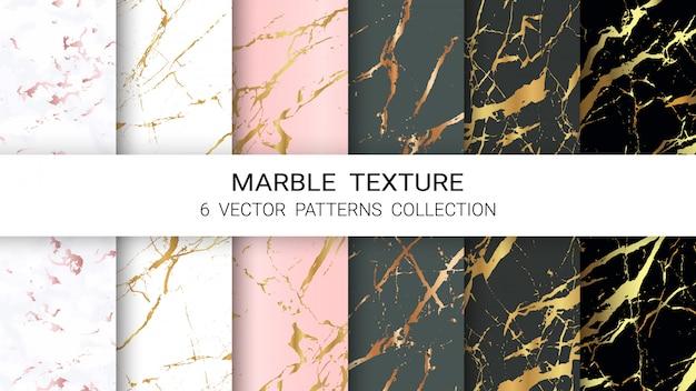Collection de motifs en marbre
