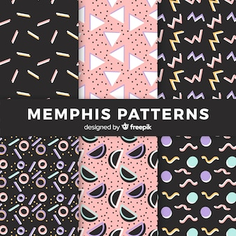 Collection de motifs memphis sans couture