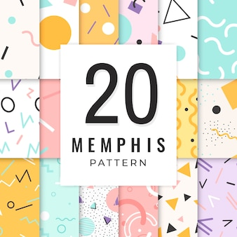Collection de motifs memphis