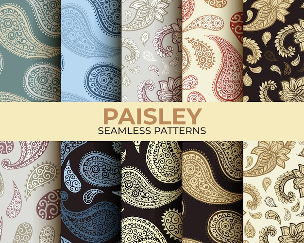 Collection de motifs paisley