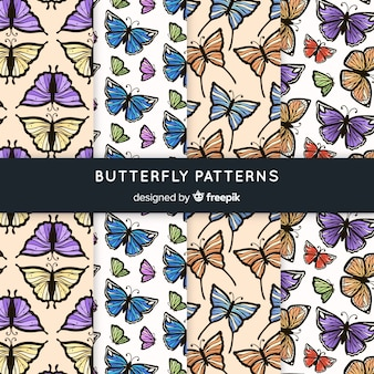 Collection de motifs de papillons vintage