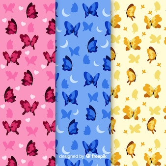 Collection de motifs de papillons