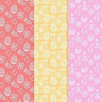 Collection de motifs de pâques
