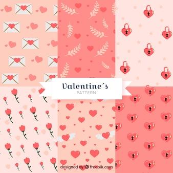 Collection de motifs de plat saint valentin