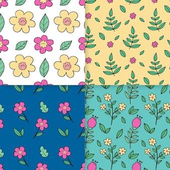 Collection de motifs de printemps